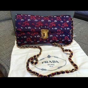 cb3e28abc3c Prada Bags | Donna Floral Print Shoulder Or Crossbody Bag | Poshmark